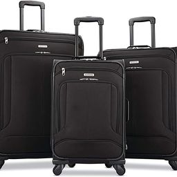 American Tourister Pop Max Softside Luggage with Spinner Wheels, Black, 3-Piece Set (21/25/29)   Amazon (US)