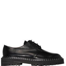 ATP Atelier Maglie contrast-stitch Derby Shoes - Farfetch | Farfetch (UK)