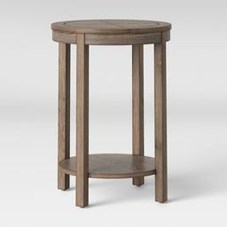 Eastford V Pattern Side Table Round Brown - Threshold™   Target