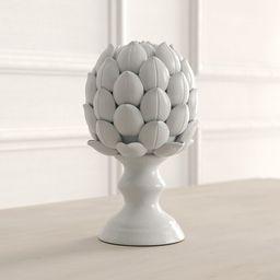 Arnold White Ceramic Artichoke Statuette | Wayfair North America