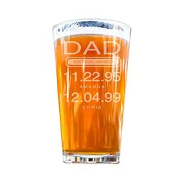 Dad Beer Glass Gift, Personalized Pint Glass, Engraved Father's Day Gift (16 Ounces) | Amazon (US)