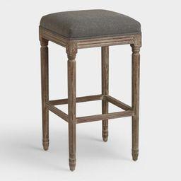 Backless Paige Upholstered Barstool   World Market