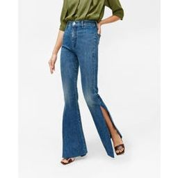 High Slit Flare Jean in Retro Broadway | 7 For All Mankind