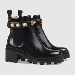 Leather ankle boot with belt | Gucci (US)
