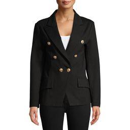 Attitude Unknown Women's Metallic Button Blazer   Walmart (US)