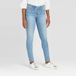 Women's High-Rise Fly Button Skinny Jeans - Universal Thread Medium Wash 16 Short | Target