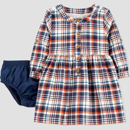 Baby Girls' Plaid Long Sleeve Dress with Diaper Cover - Just One You® made by carter's | Target