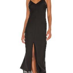 Free People Smoke & Mirrors Maxi Slip Dress in Black from Revolve.com | Revolve Clothing (Global)