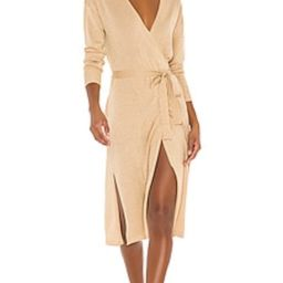 Lovers + Friends Azita Wrap Dress in Gold from Revolve.com | Revolve Clothing (Global)