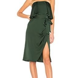 Lovers + Friends Violet Midi in Emerald from Revolve.com | Revolve Clothing (Global)