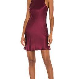 Amanda Uprichard X REVOLVE Colter Mini Dress in Wine from Revolve.com | Revolve Clothing (Global)