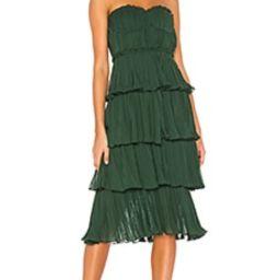 Lovers + Friends Alex Midi Dress in Emerald Green from Revolve.com | Revolve Clothing (Global)