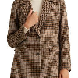 Houndstooth Wool Blend Coat   Nordstrom