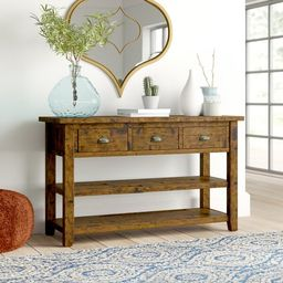 "Jalynn 50"" Solid Wood Console Table   Wayfair North America"