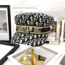 Navy beret designer inspired fashion brand D letter fashion sun hat | Etsy (US)
