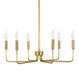 Minimalist Metal 6 Bulb Chandelier | World Market
