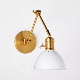 Metal Dome Sconce Wall Light (Includes Energy Efficient Light Bulb) Brass - Threshold™ designed... | Target