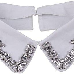 Vpang Women's Stylish Detachable Rhinestones Half Shirt Blouse False Collar Choker Peter Pan Neck... | Amazon (US)