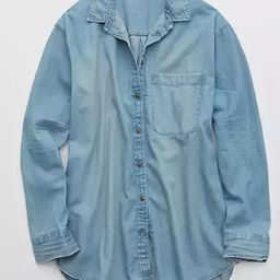 Aerie Chambray Long Sleeve Boyfriend Shirt | American Eagle Outfitters (US & CA)