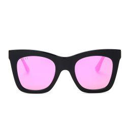 KAIA - BLACK + PINK MIRROR | DIFF Eyewear