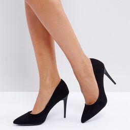 New Look High Heel Suedette Court Shoe-Black | ASOS (Global)