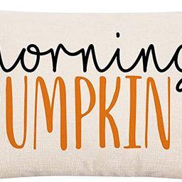 GTEXT Fall Throw Pillow Cover Autumn Decor Watercolor Pumpkins Morning Pumpkin Pillow Cover 20x12... | Amazon (US)