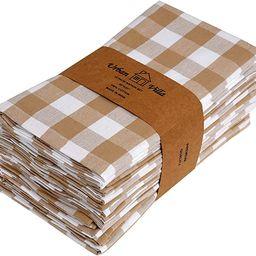 Urban Villa Dinner Napkins, Everyday Use, Premium Quality,100% Cotton, Set of 12, Size 20X20 Inch... | Amazon (US)