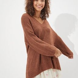 AE Oversized Dreamspun V-Neck Sweater | American Eagle Outfitters (US & CA)