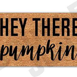 DoubleJun Hey There Pumpkin Funny Entrance Mat Floor Rug Indoor/Outdoor/Front Door Mats Home Deco... | Amazon (US)