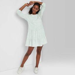 Women's Mineral Wash Long Sleeve Sweatshirt Dress - Wild Fable™ | Target