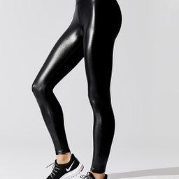 High Rise Full-Length Legging in Takara Shine   Carbon38