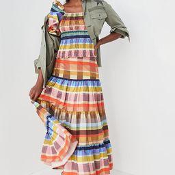 Farm Rio Seline Plaid Maxi Skirt | Anthropologie (US)