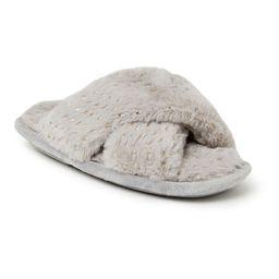 Dearfoams Fuzzy Girls' Slide Sandals, Girl's, Size: 9-10T, Dark Grey   Kohl's