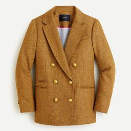 Double-breasted blazer in gold herringbone English wool | J.Crew US