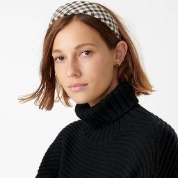 Wide wool headband in check plaid | J.Crew US