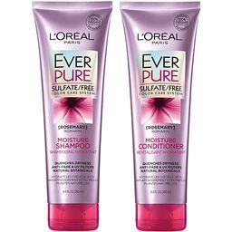 L'Oréal Paris Hair Care EverPure Moisture Sulfate Free Shampoo & Conditioner Kit for Color-Treat... | Amazon (US)