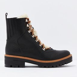AE Sherpa Lug Boot Women's Black 11 | American Eagle Outfitters (US & CA)