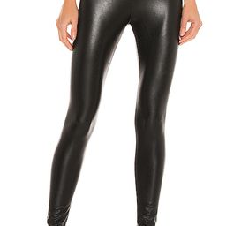 Commando Perfect Control Faux Leather Legging in Black. - size S (also in XS) | Revolve Clothing (Global)