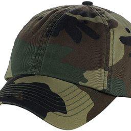 MG Unisex Unstructured Ripstop Camouflage Adjustable Ballcap | Amazon (US)