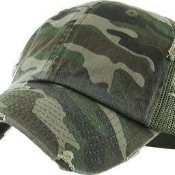 Funky Junque Women's Adjustable Athletic Trucker Hat Mesh Baseball Cap Dad Hat | Amazon (US)