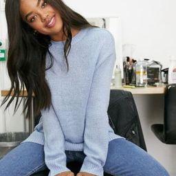 New Look crew neck sweater in baby blue | ASOS (Global)