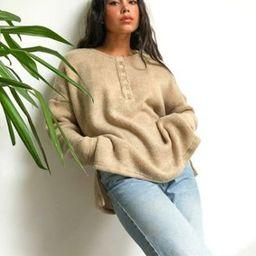 Ghospell oversized knitted sweater IN beige   ASOS (Global)