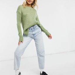 New Look crew neck sweater in pistachio green | ASOS (Global)
