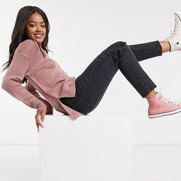New Look crew neck sweater in pink | ASOS (Global)