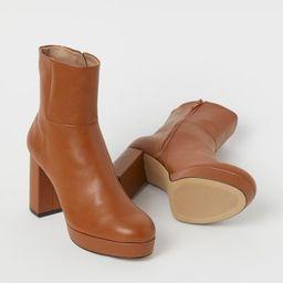 Platform Ankle Boots   H&M (US)