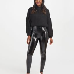 Faux Patent Leather Leggings   Spanx