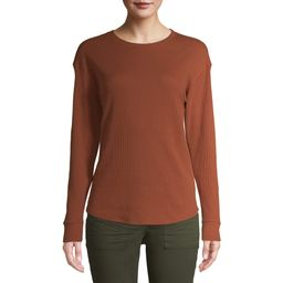 Time and Tru Women's Long Sleeve Thermal T-Shirt | Walmart (US)