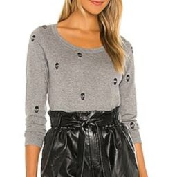 Chaser Skulls Long Sleeve Crew Neck Sweater in Heather Grey from Revolve.com   Revolve Clothing (Global)