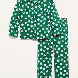 Patterned Gender-Neutral Flannel Pajama Set for Kids | Old Navy (US)