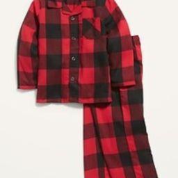 Unisex Plaid Pajama Set for Toddler & Baby | Old Navy (US)